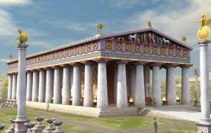 templo de zeus antes