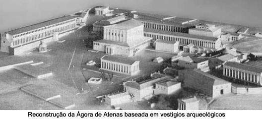 ágora antiga reconstrução
