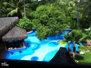A vista desse quarto é para a piscina!