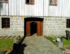 Entrada da vinícola.