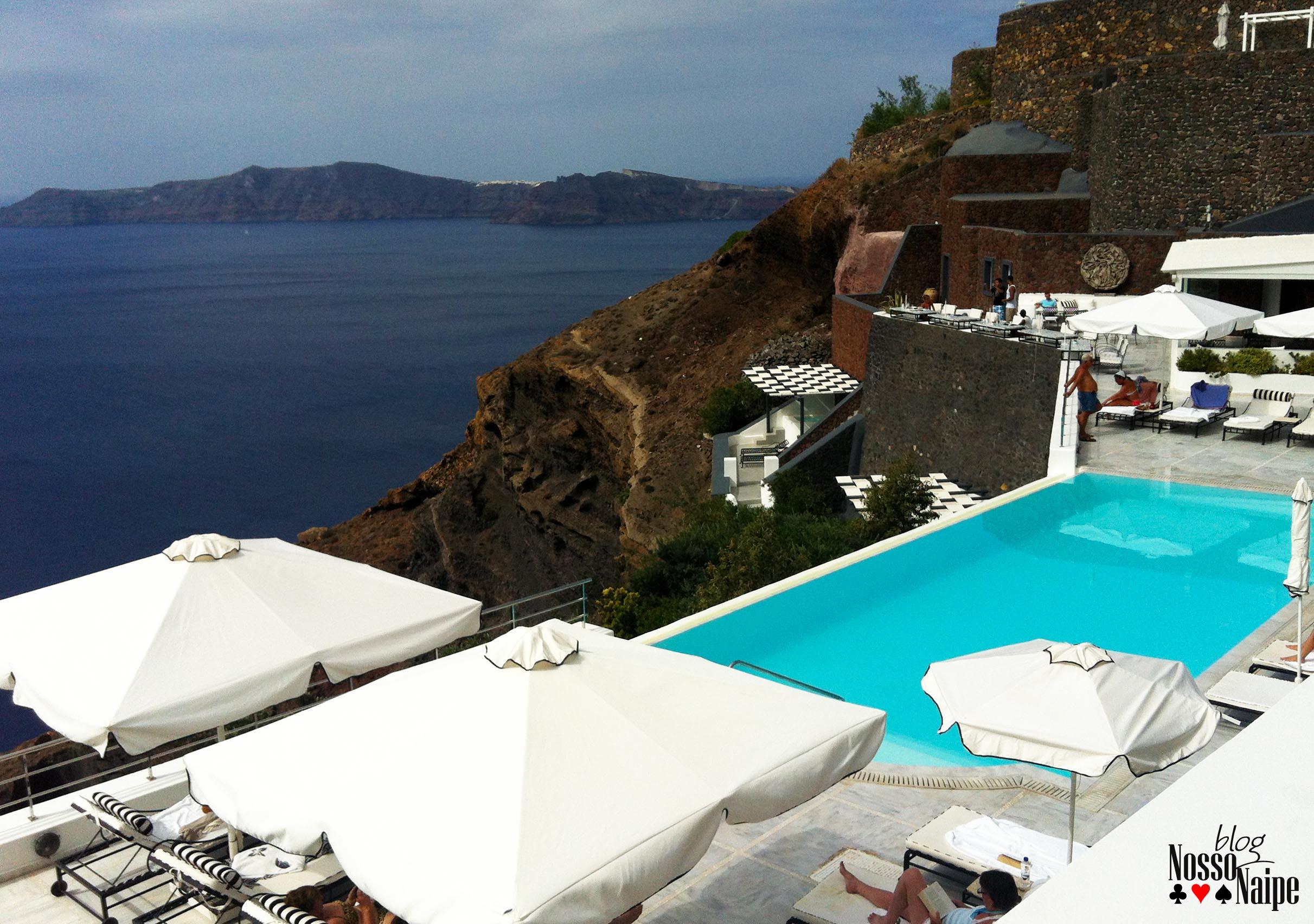 Santorini como se hospedar no san antonio luxury hotel for Piscina san anton