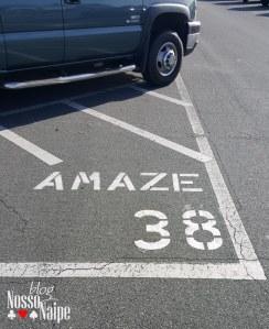 """Na última vez que fomos, estacionamos no setor """"Amaze"""" na fila 38."""