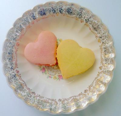 Macaron em formato de coração. Foto: Antoinette.