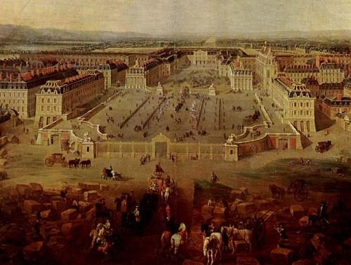 Pintura de Versailles em 1772.