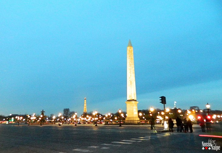 Obelisco de Paris, na Place de la Concorde.