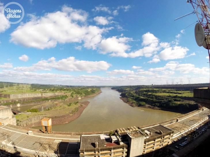 Rio Paraná após passar pelas turbinas.